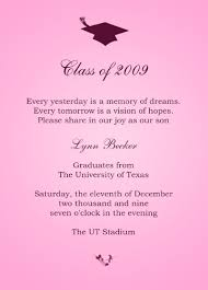 sample graduation invitations invitation sample
