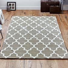 arabesque moroccan pattern wool rug beige 160 x 230 cm 5 3