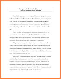 Professional Goal Statement Examples Under Fontanacountryinn Com