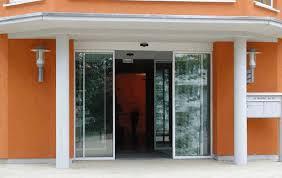 china emergency exit automatic glass sliding doors mc nylon antifraying pulley supplier