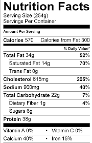 Chicken Nutrition Facts Chart Freshens Nutrition