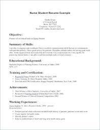 Sample Student Nurse Resume. Nursing Student Resume Example 10 Free ...