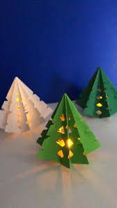 Paper Christmas Tree Lights 3d Paper Christmas Tree Luminary Christmas Tree Crafts