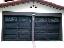 faux wrought iron window inserts iron garage door custom wrought iron car garage doors faux wrought