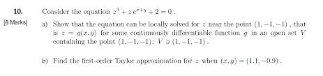 consider the equation z 3 z e x y 2