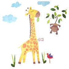 Giraffe Chart Jojo Maman Bebe Giraffe Height Chart Wall Stickers