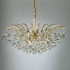 Kristall Kronleuchter 24 Karat Vergoldet 5 Größen