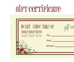 Free Printable Gift Certificates Template Printable Gift Certificate Template Free Printable Christmas Gift