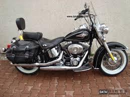 2009 Harley Davidson Heritage Black Injection Chopper Bike  B