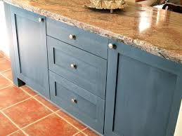 Blue Painted Kitchen Cabinet Small Kitchens Can Handle Deep Blue K C R