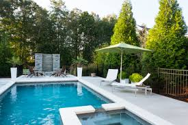 patio with pool. I Like How The Hot Tub Is Embedded In Swimming Pool. Also Love Patio With Pool