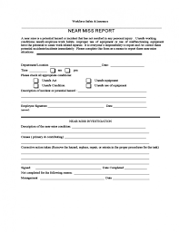 Download Now Near Miss Incident Report Template Activetraining Me