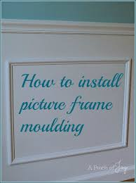 how to install picture frame moulding from a pinch of joy
