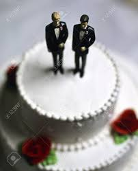 Two Grooms Wedding Cake Topper Stock Photo Picture And Royalty Free