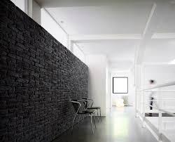 clay wall cladding panel interior brick look brique black white