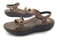 skechers walking sandals. skechers shape ups x wear dash womens 9.5m brown leather toning walking sandals