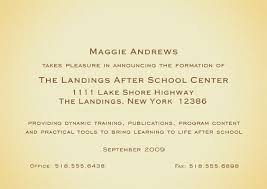 New Business Announcement Cards Business Invitation Card Design