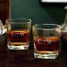 engraved glencairn scotch glasses monogrammed whiskey monogram glass personalized crystal whi