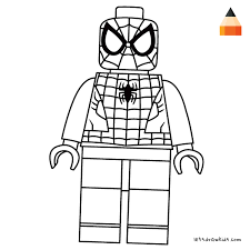 Coloring Page For Kids How To Draw Lego Spiderman Crafting