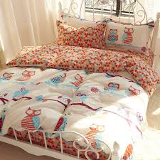 image of beddin as queen size owl bedding
