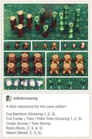 animal crossing new leaf save editor ing guide for placing rocks stumps weeds acnl landscaping