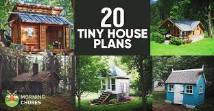 20 free diy tiny house plans to help