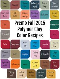 Premo Color Mixing Chart Premo Fall 2015 Polymer Clay Color Recipe Ebook Polymer