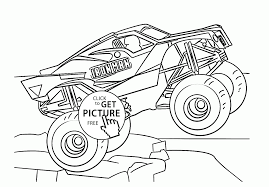 Small Picture Monster Truck Iron Man coloring page for kids transportation
