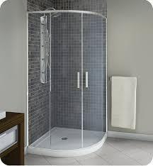 oceania po3640 poseidon 36 corner two side sliding shower door in chrome clear