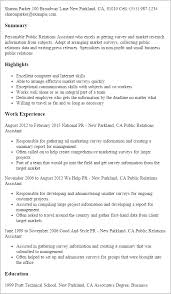 Public Relations Resume Inspiration Public Relations Resumes Samples Assistant Entire Thus Resume