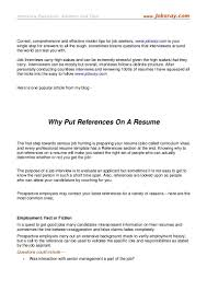 Should You Put References On Your Resume Should You Put References On A Resume Why Put References On A 3