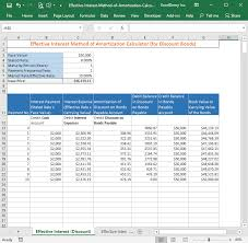 Amortization Chart Effective Interest Method Of Amortization Calculator Free