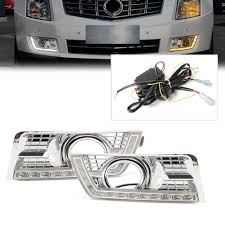 2012 Cadillac Srx Fog Lights Us 102 28 11 Off For Cadillac Srx Suv Led Daytime Running Light Drl W Signal Lamp 2010 2011 2012 2013 2014 2015 2016 1pair In Signal Lamp From