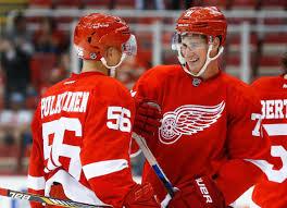 larkin doing everything he can to make wings decision a tough one detroit red wings left wing teemu pulkkinen 56 and center dylan larkin right