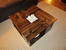 wooden crate coffee table storage