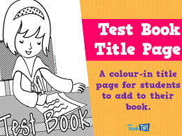 title page for book test book title page teacher resources and classroom games