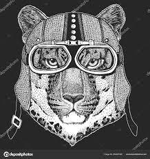леопард дикий кот пантера пума ягуар Hemlet старинных