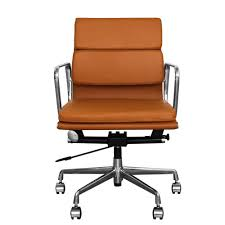eames ribbed chair tan office. The Inventors Tan Brown Leather Short Back Soft Pad Style Executive Office Chair Eames Ribbed F