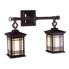 springdale lighting avery lantern 2 light antique bronze wall sconce