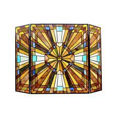 Style Stained Glass Fireplace Screens & Doors | eBay