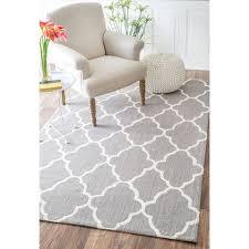 best home modern nuloom trellis rug in nuloom handmade fancy wool 7 6 x
