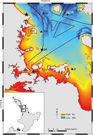 Map Of The Hauraki Gulf New Zealand Showing The Six