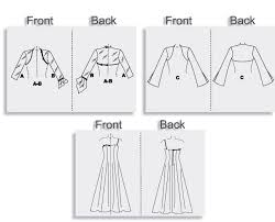 Shrug Pattern Cool Floor Length Bridal Wedding Prom Dress Gown Shrug Sewing Pattern