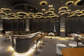 luxurious lighting ideas appealing modern house. View Of Elegant And Luxury Restaurant Interior With Amber Bubble Light Luxurious Lighting Ideas Appealing Modern House E