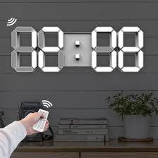 jumbo modern digital 3d led wall clock