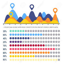 Location Chart Infographics Flowchart With Percentage Information Vector Chart