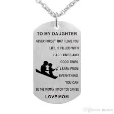 whole mom to my daughter necklace personalized custom military dog tags pendant gift never forget that i love you silver pendant necklace gold pendant