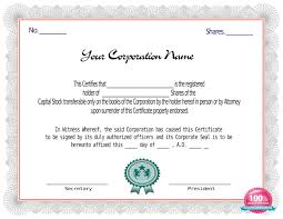 Template For Stock Certificate Red Stock Certificate Template Certificate Templates