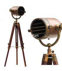 antique telescopic tripod stand spot light loading zoom