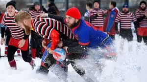 snow rugby catches on in russia bbc news